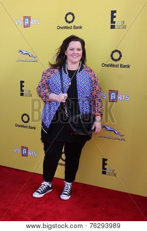 LOS ANGELES - NOV 16:  Melissa McCarthy at the PS Arts Express Yourself Benefit at the Barker Hanger on November 16, 2014 in Santa Monica, CA