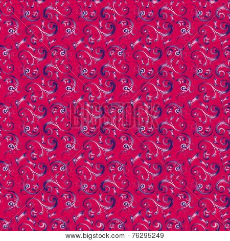 Seamless Pattern In Crimson Color