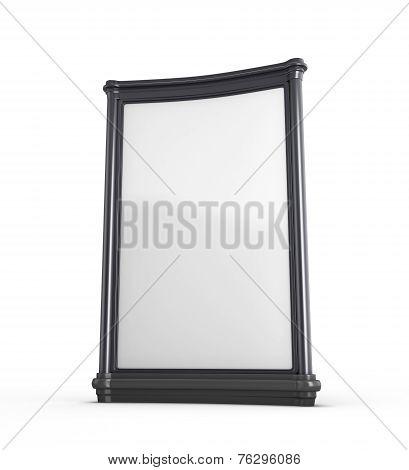 Empty White Billboard In Black Frame