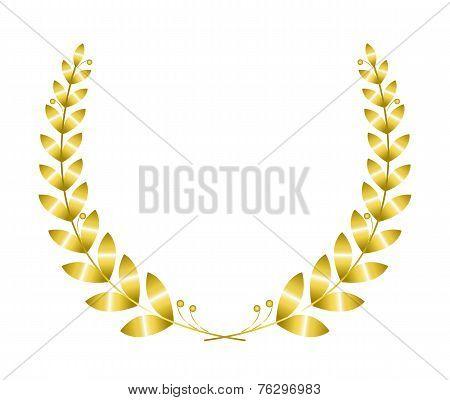 Golgen laurel wreath