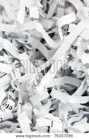 shredded paper, symbolic photo for data destruction, documentation and legacy