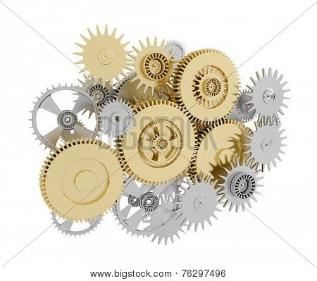 Gears with pinions