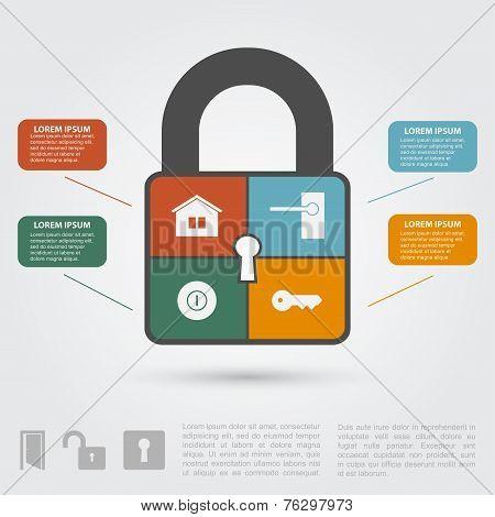 Lock Infographic