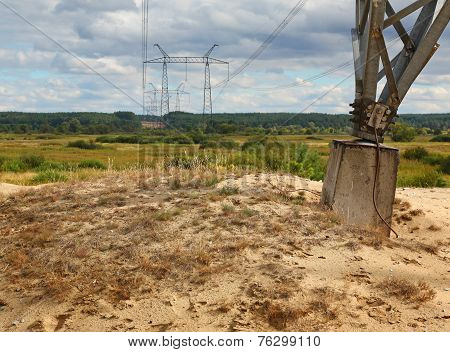 Powerline Tower Through The Valley