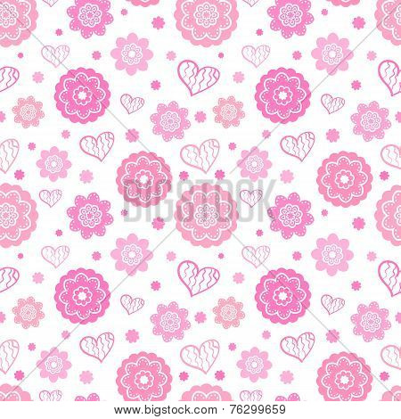 Romantic seamless pattern. Vector illustration