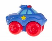 image of railroad car  - Baby car Baby toy car on the background - JPG