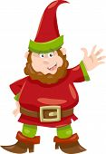 stock photo of gnome  - Cartoon Illustration of Fantasy Gnome or Dwarf - JPG