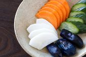 picture of pickled vegetables  - Traditional Japanese vegetable pickle  - JPG