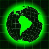 stock photo of south-pole  - Green South America map - JPG