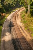 foto of railroad yard  - Main line train track switches and yard - JPG