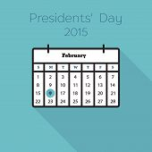 picture of february  - Flat holiday calendar icon - JPG