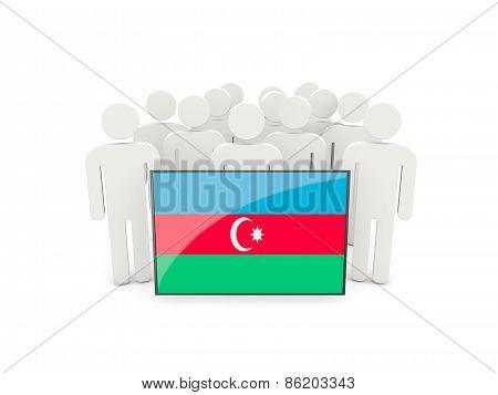 People With Flag Of Azerbaijan