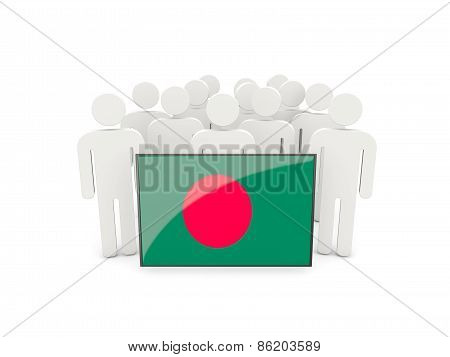 People With Flag Of Bangladesh