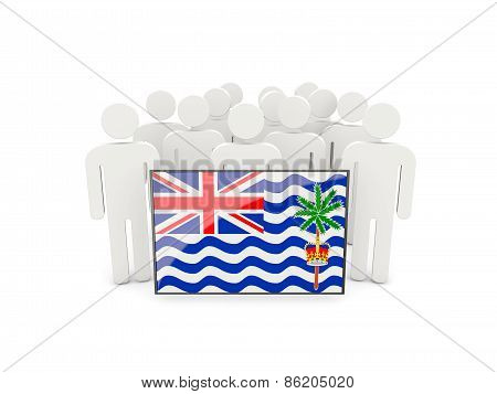People With Flag Of British Indian Ocean Territory