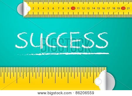Measuring Business Success and Achievement Concept