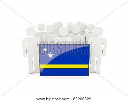 People With Flag Of Curacao