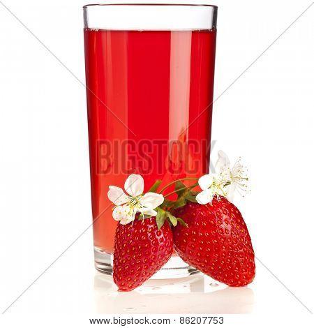 Fresh  juice with isolated on white background
