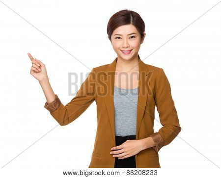 Asian businesswoman counting