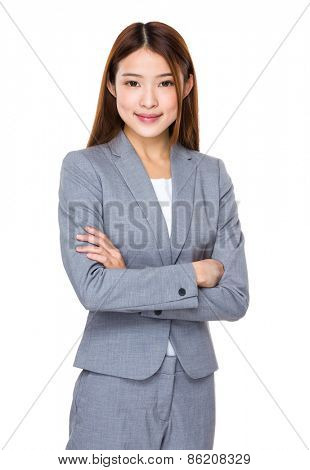 Young Asian pretty business woman
