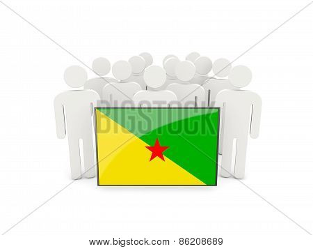 People With Flag Of French Guiana