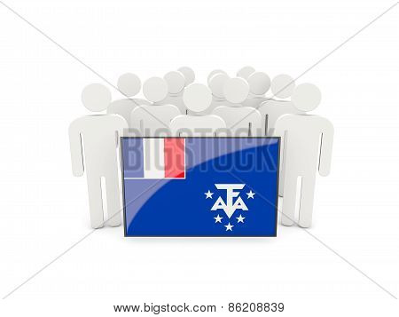 People With Flag Of French Southern Territories