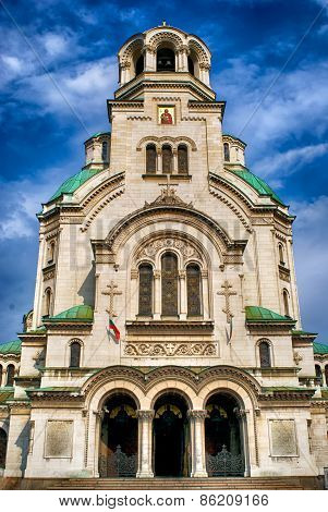 Alexander Nevsky Cathedral In Sofia. Bulgaria.
