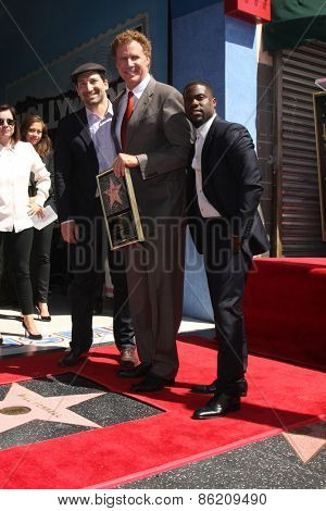 LOS ANGELES - MAR 24:  Etan Cohen, Will Ferrell, Kevin Hart at the Will Ferrell Hollywood Walk of Fame Star Ceremony at the Hollywood Boulevard on March 24, 2015 in Los Angeles, CA