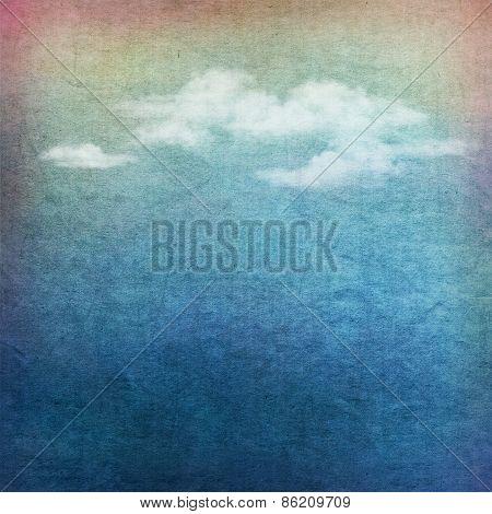 Vintage sky clouds textured background