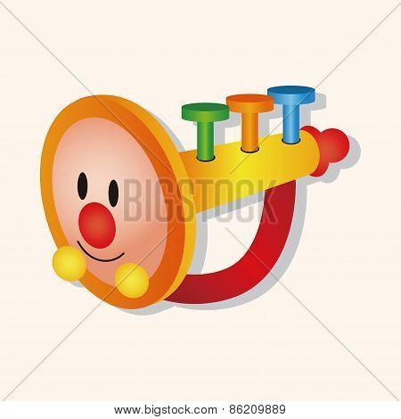 Baby Toy Trumpet Theme Elements