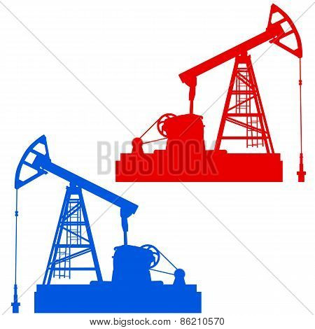 Oil pumpjack. Oil industry equipment