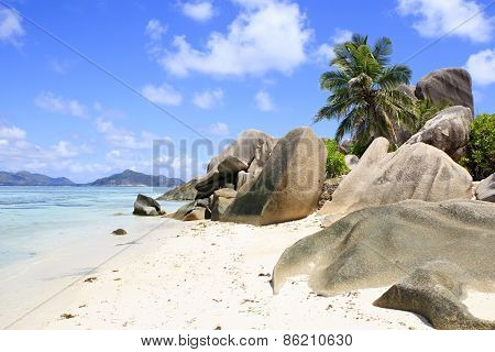 Beautiful beach Anse Source DArgent.