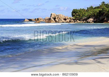Beautiful beach Anse Cocos.