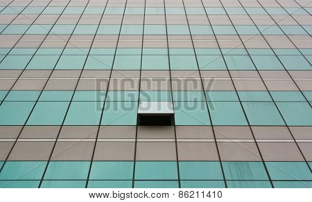 Glass Wall With Open Windows.