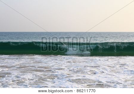 Wave on the shores of the Indian ocean, Sri Lanka