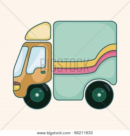 Transportation Car Theme Elements