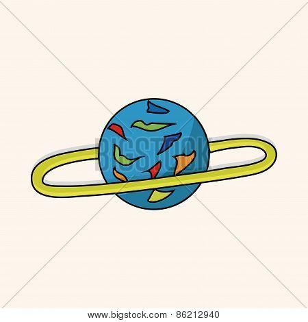 Space Planet Theme Elements