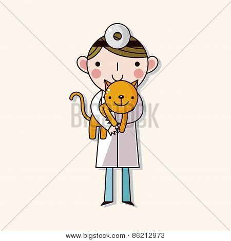 Veterinarian Theme Elements Vector,eps