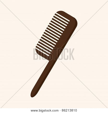 Hair Products Theme Comb Elements