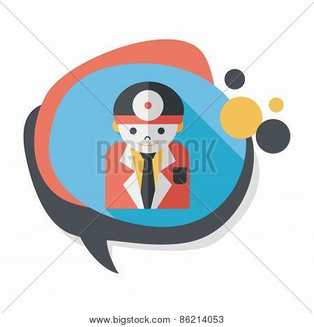 Medical People With Stethoscopes Flat Icon With Long Shadow,eps10