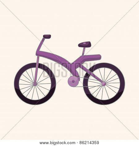 Transportation Bike Theme Elements