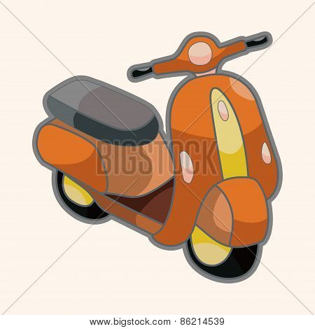 Transportation Motor Theme Elements