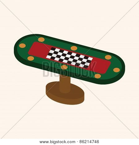 Casino Game Table Theme Elements