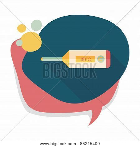 Medical Thermometer Flat Icon With Long Shadow,eps10