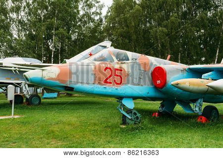 Su-25 - Soviet armored single subsonic attack aircraft designed