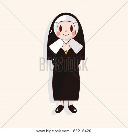 Pastor And Nun Theme Elements