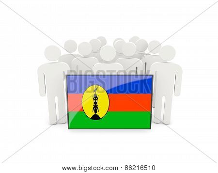 People With Flag Of New Caledonia