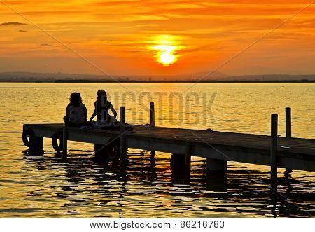 tourists at sea