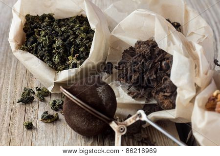 Different Sorts Of Tea In Paper Bags