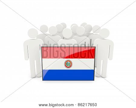 People With Flag Of Paraguay