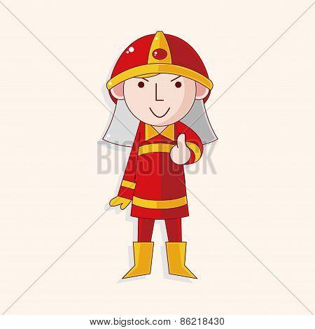 Fireman Theme Elements
